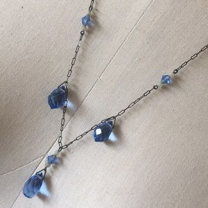 Jewelry - Antique blue crystal findings bohemian necklace